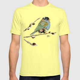 Cafe Swirly Bird 3 T-shirt