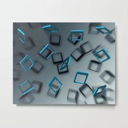 Falling Blue Metal Print