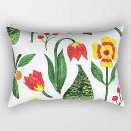Botanic Watercolor Collection #19 Rectangular Pillow