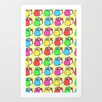 yoshi Art Prints featuring yoshi by zamiiz