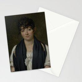 Jacques-Louis David - Portrait of Suzanne Le Peletier de Saint-Fargeau Stationery Cards