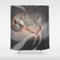 dragon Shower Curtains featuring Dragon  by Matthew Schenk