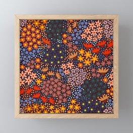 Midnight Spring Garden, Floral Framed Mini Art Print