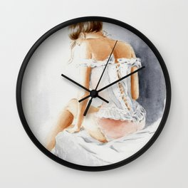 Seductive Lingerie - Erotic Watercolor Wall Clock