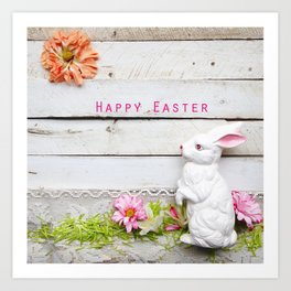 Happy Easter Bunny Art Print