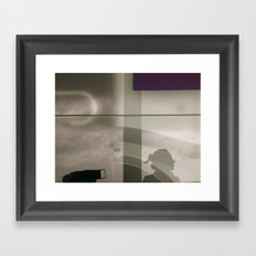 Self portait and purple  Framed Art Print