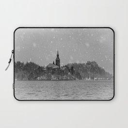 Snowy Bled Island Mono Laptop Sleeve
