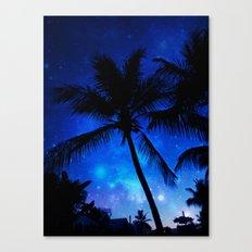 Cosmic Palms Canvas Print