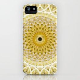 Honey and milk mandala iPhone Case