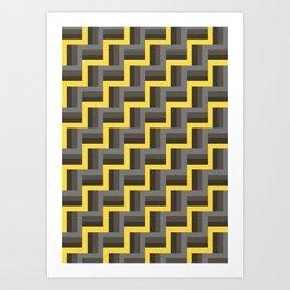 Plus Five Volts - Geometric Repeat Pattern Art Print