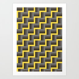 Plus Five Volts - Geometric Repeat Pattern Art Print