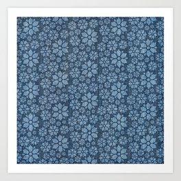 Daisy Denim Art Print