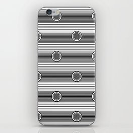 Concentric Circles and Stripes in Black and White iPhone Skin