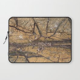Marble Rain Forest Gold Laptop Sleeve