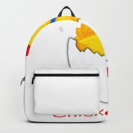 Chicken Mom Funny Mother's Day Rooster graphic Backpack