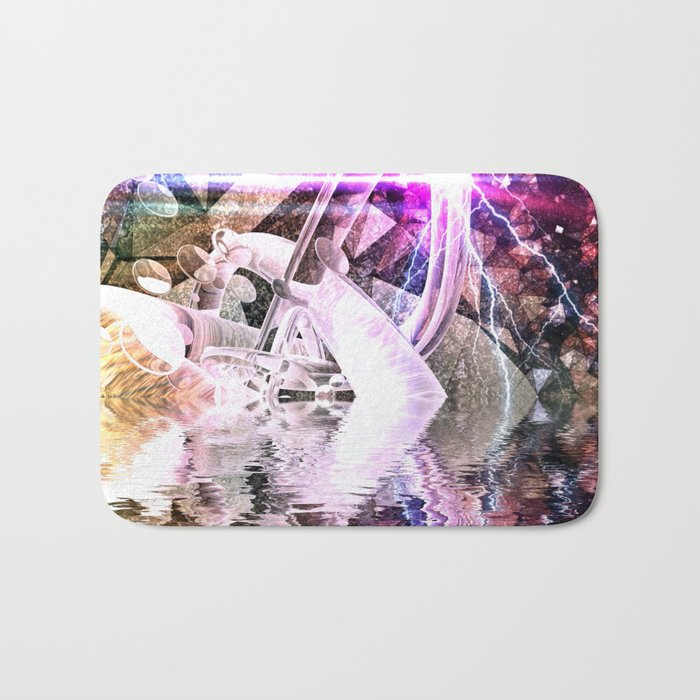 Abstract Rivers Bath Mat