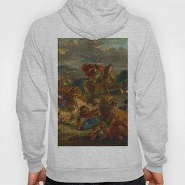 "Eugène Delacroix ""Lion Hunt""(1861) Hoody"