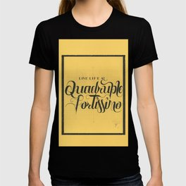"""THE YELLOW COLLECTION — """"QUADRUPLE FORTISSIMO"""" T-shirt"""