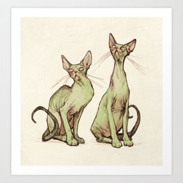 Kitties  Art Print