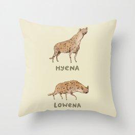 Hyena Lowena Throw Pillow