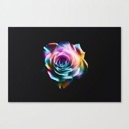 Tie Dye Colorful Rose Canvas Print