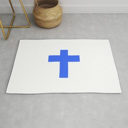 Christian Cross 9- blue Rug