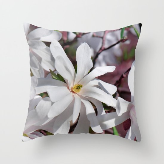 Magnolia flower 289 Throw Pillow by Laura Society6