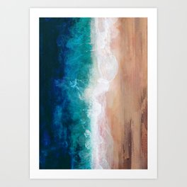 Watercolour Summer Beach IV Art Print
