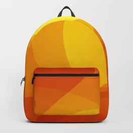 Orange abstract Backpack