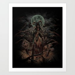 The Somber Undead Art Print