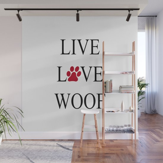 Live Love Woof with the O in Love replaced with a Paw Print by atimelesscollection