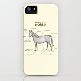 Anatomy of a Horse iPhone Case