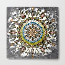 Fiery Mandala Metal Print