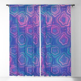 'I Love You Umlaut' Valentine's Pattern - Deep Coral Reef Blackout Curtain