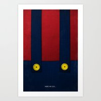 video game Art Prints featuring Video Game Poster: Plumber by Justin D. Russo