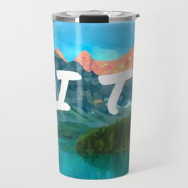 Cache in trash out oil painting style digital art Travel Mug
