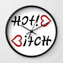 Funny Hot! Bitch ambigram Wall Clock