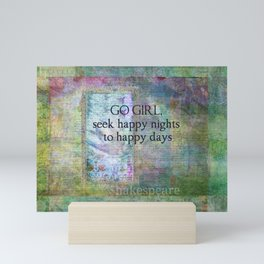 Shakespeare Quote Whimsical Mini Art Print