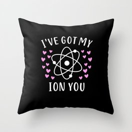 Ion Chemistry Teacher Student Valentine's Day Gift Throw Pillow