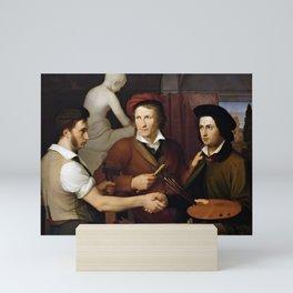 Friedrich Wilhelm Schadow - The Brothers Friedrich and Rudolph Schadow with the Sculptor Bertel Thor Mini Art Print