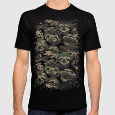 Sloth Camouflage Black MEDIUM Mens Fitted Tee