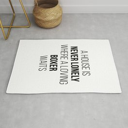 Boxer Dog Cute Quote Rug
