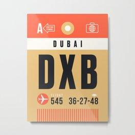Luggage Tag A - DXB Dubai UAE Metal Print
