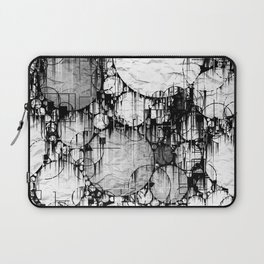 Glitch Black & White Circle abstract Laptop Sleeve