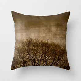 Lonesome Guardian Throw Pillow