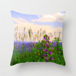 Delphinium Staphisagria Throw Pillow