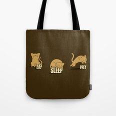 Eat Sleep Prey (Cats) Tote Bag