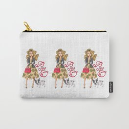 Girl with Bulldog Carry-All Pouch