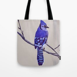 Blue Jay Bird Tote Bag