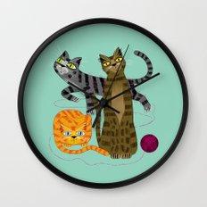 Three Cool Cats Wall Clock